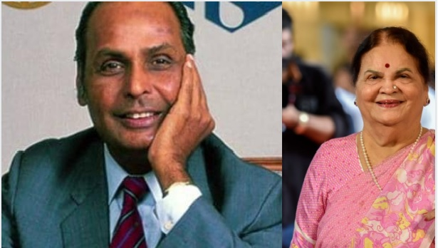 Dhirubhai Ambani (grandfather)  &  kokilaben Ambani (grandmother)