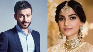 Anand Ahuja  with Wife Sonam Kapoor