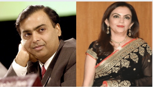 Parents Mukesh Ambani and Nita Ambani