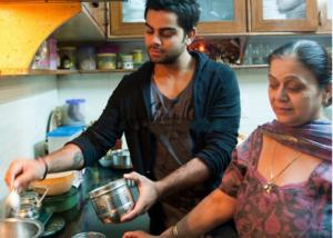 virat kohli in kitchen spent time with his mother saroj kohli