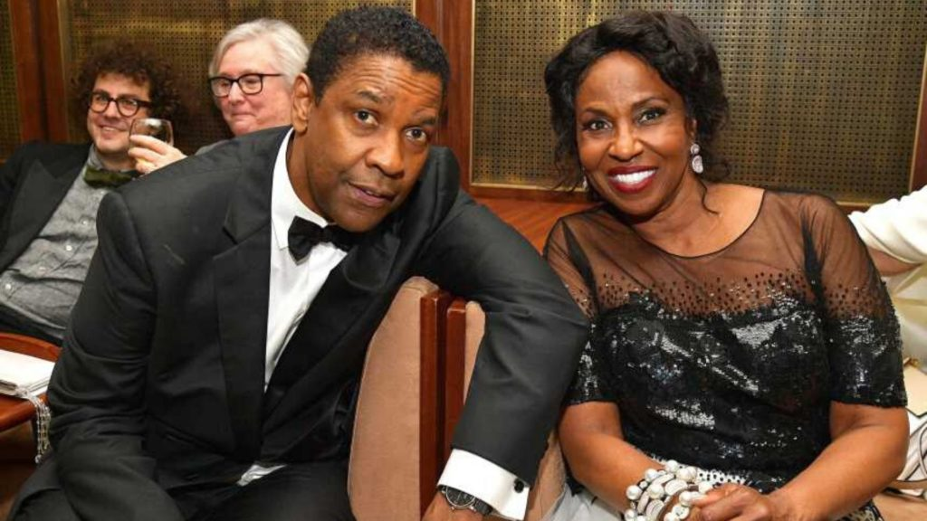 Denzel Washington with wife  Pauletta Pearson