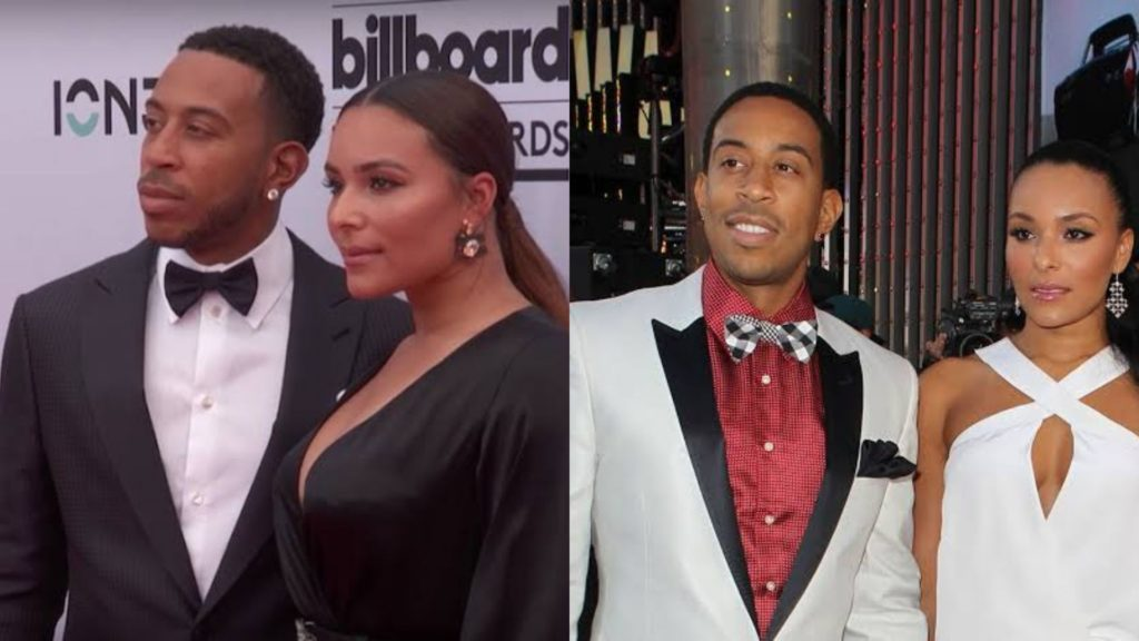 Ludacris with wife Eudoxie Mbouguiengue