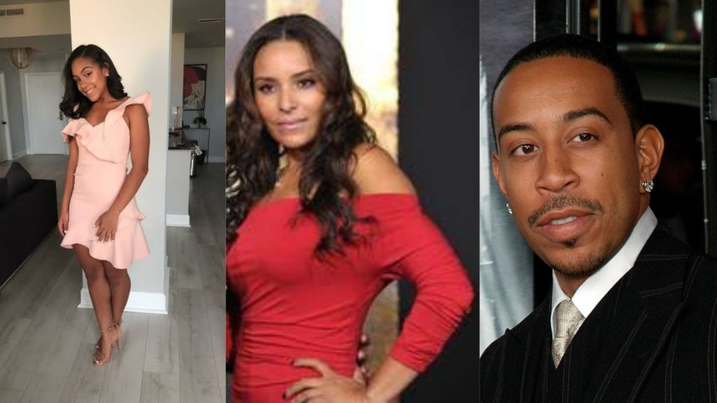 Ludacris with his two daughtersKarma Bridges And Cai Bella Bridges.