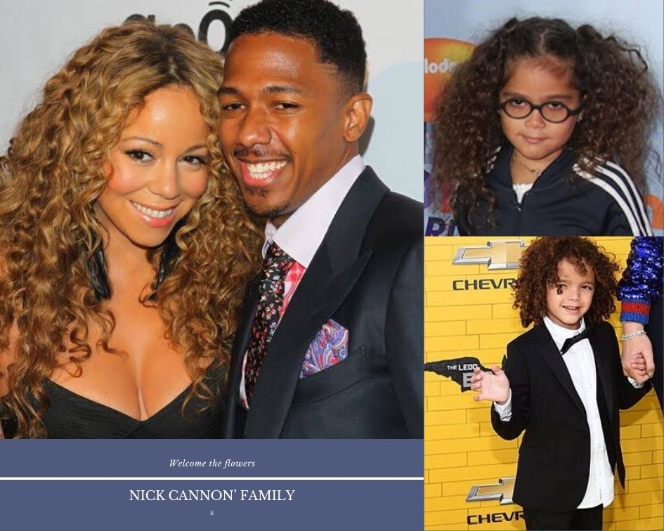 Nick Cannon with his ex wife Mariah Carey , Daughter Monroe and son Moroccan.