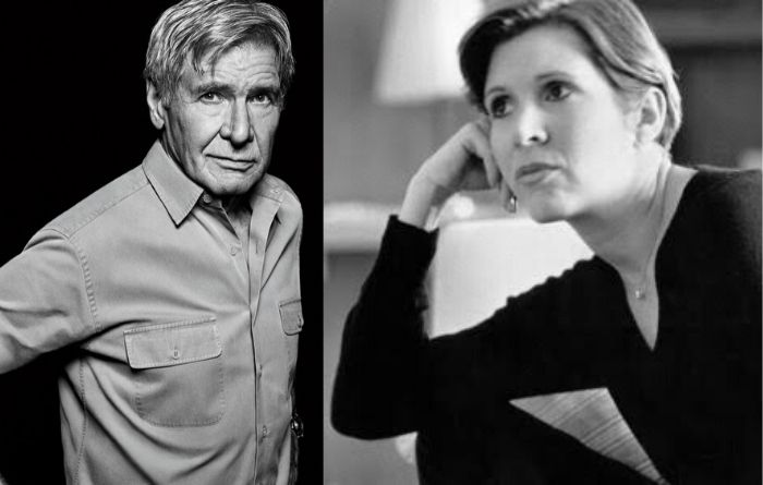 Carrie Fisher and Harrison Ford Star Wars
