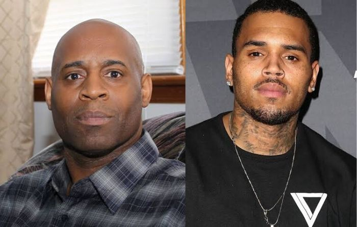 Chris Brown with his father Clinton Brown