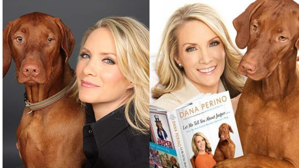 Dana Perino with her pet Dog Jasper