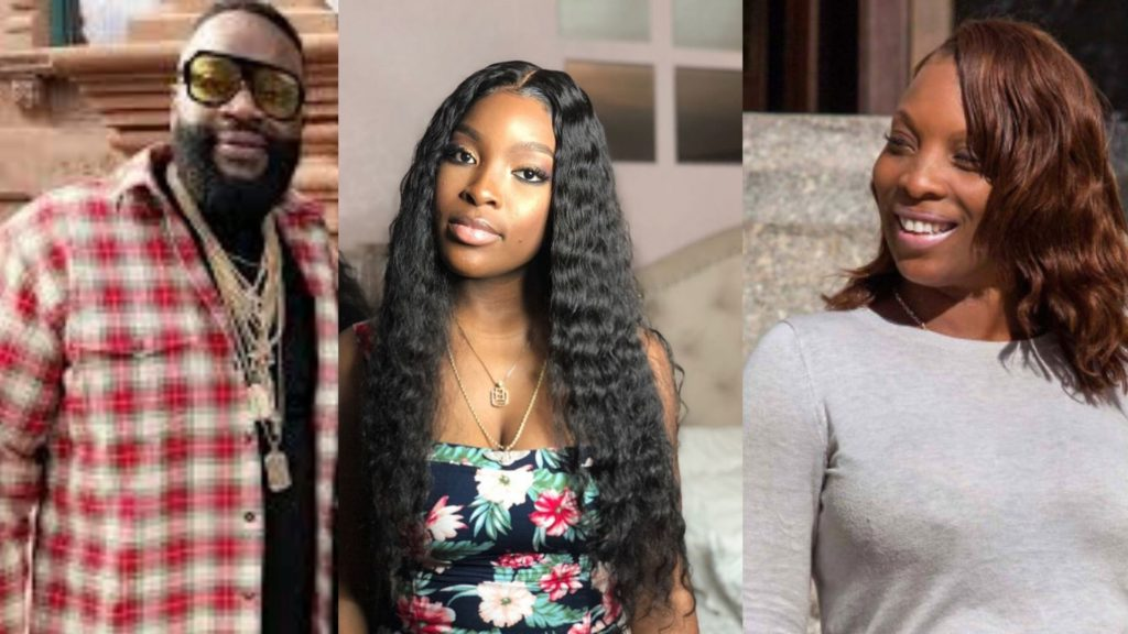 Rick Ross with Daughter Toie Roberts and ex girlfriend Lastonia Leviston