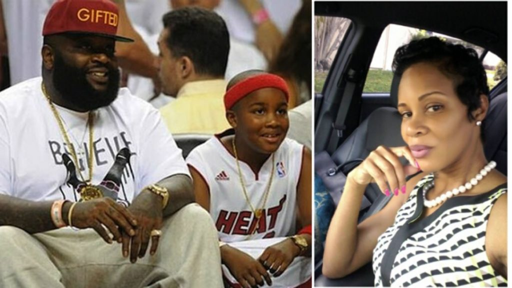 Rick Ross with son William Roberts III and ex girlfriend Tia Kemp