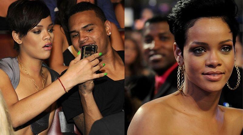 Chris Brown with girlfriend Rihanna