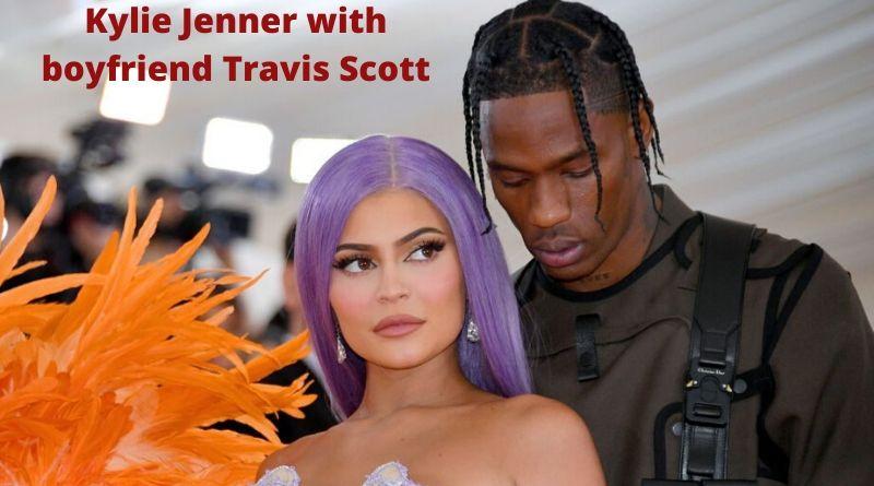 Kylie Jenner with boyfriend Travis Scott