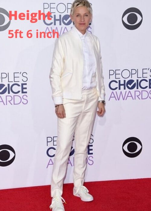 How tall is Ellen DeGeneres? Discover more Celebrity Heights.