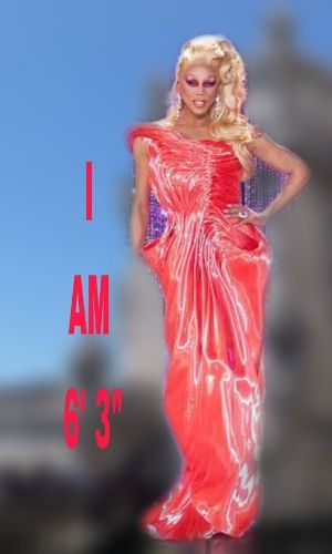 know the physical appearance, height, and weight of RuPaul.