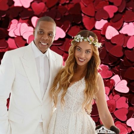 Beyoncé , the wife of Rapper and record producer Jay-Z.