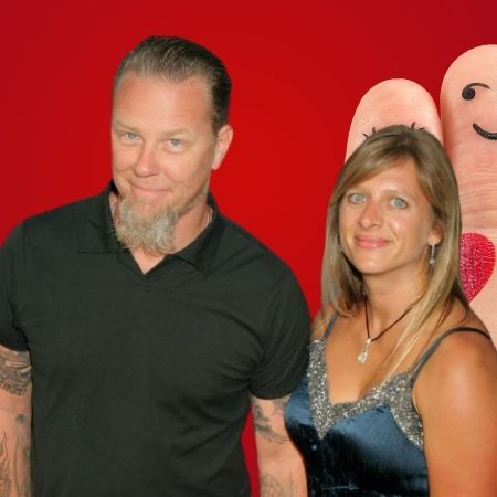Who is James Hetfield's wife?