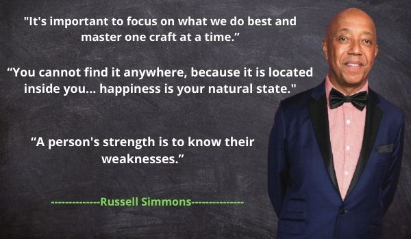 Russell Simmons' best Memorable Quotes