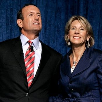 Who is Betsy DeVos married to?