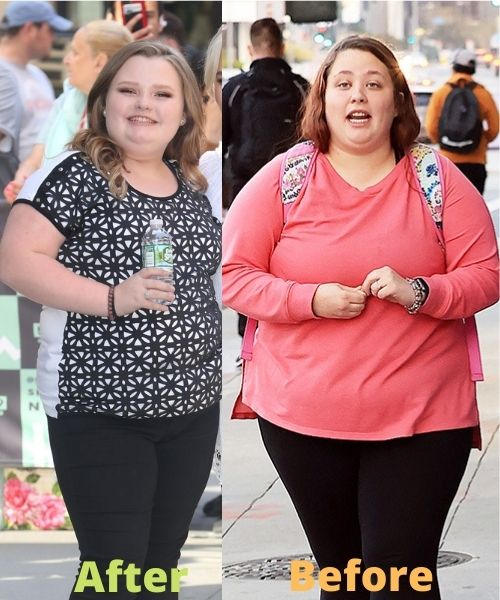 What did Honey Boo Boo look like before and after weight loss?