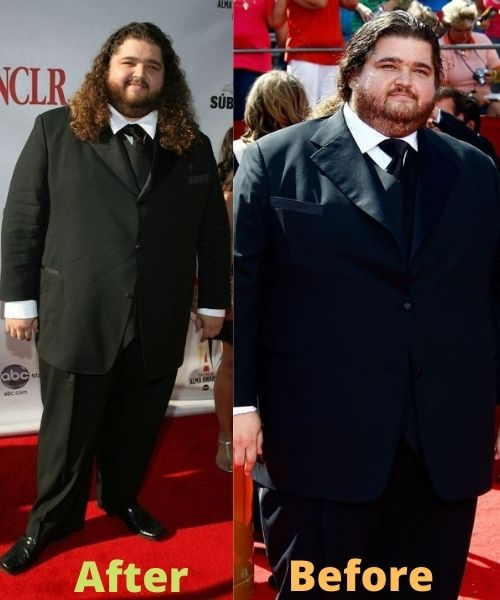 What did Jorge Garcia look like before and after weight loss?