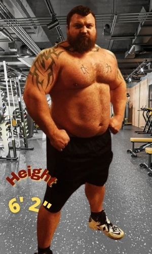 Eddie Hall's Height - How tall is he?