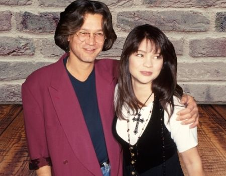 Valerie Bertinelli, the ex-wife of guitarist Eddie Van Halen.