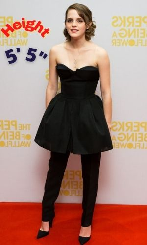 Is Emma Watson's height 5 feet 5 inches?